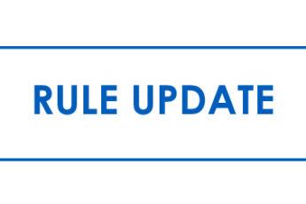 Rule Change Updates